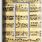 ♫ SHEET MUSIC OLD MUSICAL NOTES SINGLE GFCI LIGHT SWITCH WALL PLATE COVER STUDIO