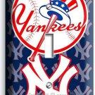 BASEBALL NEW YORK YANKEES TEAM LOGO SINGLE LIGHT SWITCH GAME TV ROOM HOME DECOR
