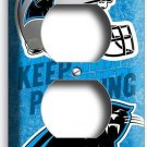 CAROLINA PANTHERS FOOTBALL TEAM DUPLEX OUTLET WALL PLATE COVER MAN CAVE GARAGE