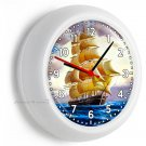 SEA SAILING SAILBOAT SHIP NAUTICAL WALL CLOCK BEDROOM LIVING ROOM OFFICE DECOR