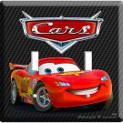 NEW CARS 2 LIGHTNING MCQUEEN 1 RACING DOUBLE LIGHT SWITCH WALL BOYS ROOM DECOR !