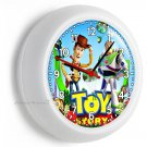 TOY STORY WOODY BUZZ LIGHTYEAR WALL CLOCK BABY GIRLS BOYS NURSERY BEDROOM DECOR