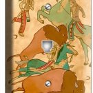 NATIVE AMERICAN INDIANS TIPI BUFFALO PHONE TELEPHONE WALL PLATE COVER ROOM DECOR