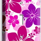 PINK HAWAIIAN HIBISCUS FLOWERS SINGLE LIGHT SWITCH WALL PLATE COVER ROOM DECOR