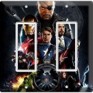 AVENGERS IRONMAN THOR SUPER POWER HULK DOUBLE GFCI LIGHT SWITCH WALL PLATE COVER