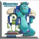 MONSTERS UNIVERSITY MIKE SULLY DOUBLE LIGHT SWITCH COVER BOYS BEDROOM DECORATION