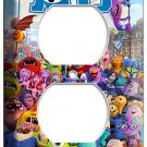 MONSTERS INC UNIVERSITY MIKE SULLY ELECTRICAL OUTLET COVER GIRLS ROOM DECORATION