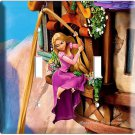 RAPUNZEL LONG HAIR TOWER ESCAPE TANGLED MOVIE DOUBLE LIGHT SWITCH COVER PLATE