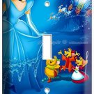 PRINCESS CINDERELLA LIGHT SWITCH COVER WALL PLATE GIRLS PLAY GAME ROOM BEDROOM