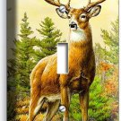 WHITETAIL WILD DEER BUCK ANTLERS SINGLE LIGHT SWITCH WALL PLATE COVER HOME DECOR