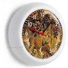 PINE TREES CONES WALL CLOCK BEDROOM ROOM HOME RUSTIC COUNTRY ART LOG CABIN DECOR