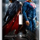 BATMAN V SUPERMAN SUPERHEROES SINGLE LIGHT SWITCH WALL PLATE COVER BOYS ROOM ART