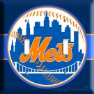 NEW YORK METS NY BASEBALL MLB DOUBLE LIGHT SWITCH PLATE TROPHY ROOM DECORATION