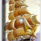 SEA SAILING SAILBOAT SHIP NAUTICAL PHONE TELEPHONE WALL PLATE BEACH HOUSE DECOR