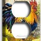 FRENCH ROOSTER FARM CHICKENS CHICKS DUPLEX OUTLET WALL PLATE COVER KITCHEN DECOR