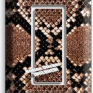 SNAKE SKIN ANIMAL PRINTS DOUBLE GFCI LIGHT SWITCH WALL PLATE COVER RUSTIC DECOR