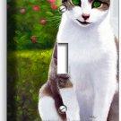 GREEN EYES SMILE CAT KITTEN KITTY SINGLE LIGHT SWITCH WALL PLATE COVER ROOM ART