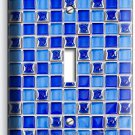 BLUE MOSAIC ARABIC TILES SINGLE LIGHT SWITCH WALL PLATE COVER HOME KITCHEN DECOR