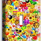 TEXT EMOJI SMILEY POOP SYMBOLS SINGLE LIGHT SWITCH WALL PLATE COVER HOME DECOR