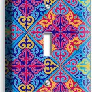 DAMASK ARABIC COLORFUL ORNAMENT SINGLE LIGHT SWITCH WALL PLATE COVER ART DECOR