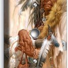 NATIVE AMERICAN INDIAN CHIEF LIGHT DIMMER CABLE WALL PLATE COVER ROOM HOME DECOR