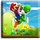 NEW SUPER MARIO YOSHI DOUBLE LIGHT SWITCH COVER WALL PLATE GAME ROOM DECORATION