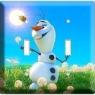 DISNEY FROZEN OLAF SNOWMAN DREAMING OF SUMMER DOUBLE LIGHT SWITCH PLATE BEDROOM