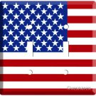 USA AMERICAN FLAG DOUBLE LIGHT SWITCH COVER PLATE US