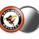 BALTIMORE ORIOLES TEAM BASEBALL BAT PITCHING BIRD PURSE POCKET HAND MIRROR GIFT