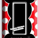 MICKEY MOUSE EARS POLKA DOTS SINGLE GFCI LIGHT SWITCH WALL PLATE COVER BABY ROOM