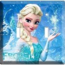 DISNEY FROZEN MAGIC ELSA DOUBLE LIGHT SWITCH PLATE CHILDREN'S GIRLS ROOM BEDROOM