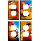 NEW LION KING SIMBA NALA TIMON AND PUMBA SET OF 4 POWER OUTLET WALL PLATE COVERS