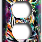 COLORFUL ZEBRA DUPLEX OUTLET WALL PLATE COVER NEW ART PAINTING STUDIO ROOM DECOR