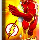 FLASH COMICS SUPER HERO YELLOW FLAMES LIGHT DIMMER VIDEO CABLE WALL PLATE COVER
