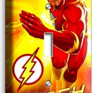 FLASH COMICS SUPER HERO RED YELLOW FLAMES SINGLE LIGHT SWITCH WALL PLATE COVER