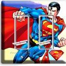 SUPERMAN SUPERHERO DOUBLE GFCI LIGHT SWITCH WALL PLATE COVER BOYS BEDROOM DECOR