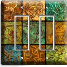 ITALIAN PATCHWORK TILES PRINT DOUBLE GFCI LIGHT SWITCH WALL PLATE COVER HOME ART