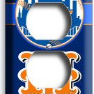 NEW YORK METS BASEBALL TEAM DUPLEX OUTLET WALL PLATE COVER SPORT MAN CAVE GARAGE