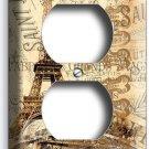 PARIS EIFFEL TOWER VINTAGE CARD DUPLEX OUTLET WALL PLATE COVER HOME ROOM DECOR