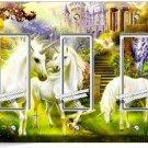 MAGICAL UNICORN TRIPLE GFI LIGHT SWITCH PLATE COVER WHIMSICAL FANTASY ROOM DECOR