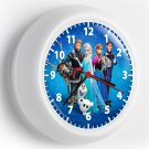 DISNEY FROZEN ELSA ANNA OLAF KRISTOFF SVEN WALL CLOCK KIDS BEDROOM TV ROOM DECOR