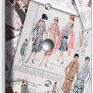 RETRO FASHION MAGAZINE PAGES DIMMER CABLE PLATE COVER BOUTIQUE SHOP ROOM DECOR