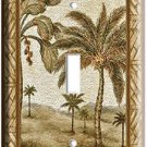 NEW PALM TREE SINGLE GANG LIGHT SWITCH COVER WALL PLATE