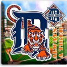 DETROIT TIGERS COMERICA STADIUM DOUBLE LIGHT SWITCH WALL PLATE COVER BOYS ROOM
