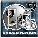 OAKLAND RAIDERS NATION NFL FOOTBALL TEAM DOUBLE GFCI LIGHT SWITCH WALL PLATE ART