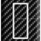 CARBON FIBER STYLE SINGLE GFCI LIGHT SWITCH COVER WALL PLATE GARAGE MAN CAVE ART
