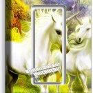 MAGICAL UNICORNS DUPLEX OUTLET PLATE COVER WHIMSICAL FANTASY GIRLS ROOM DECOR