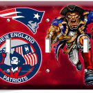 NEW ENGLAND PATRIOTS FOOTBALL TEAM TRIPLE LIGHT SWITCH WALL PLATE ROOM ART DECOR