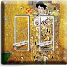 GUSTAV KLIMT ADELE BLOCH GOLD PAINTING DOUBLE GFCI LIGHT SWITCH WALL PLATE COVER