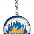 NY NEW YORK METS BASEBALL TEAM KEYCHAIN KEY FOB CHAIN SPORTS SPORT FAN GIFT IDEA
